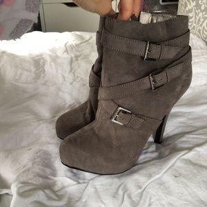 Guess grey booties NWOB